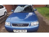 2003 52 audi a3 1.6 reduced to clear