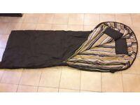 2 x black sleeping bags
