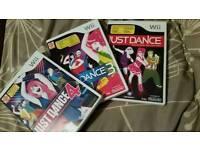 WII 3 Dance Games
