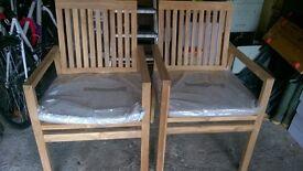 2 john lewis garden chairs brand new
