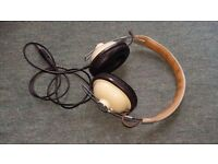 Retro Headphones Panasonic RP-HTX7 Cream Second Hand