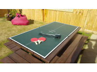 Butterfly Tabletop Table Tennis Table including two bats,net, net posts and ball - 6ft x 3ft