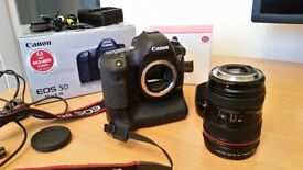 Canon 5D Mk3 (MKIII) - Body + 24-105 + Grip + Lowepro Bag + More
