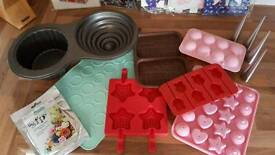 Large selection of cake and chocolate moulds