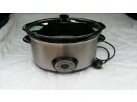 Morphy Richards 48730 6.5L Auto Electric Digital Stainless Steel Slow Cooker Pot