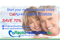 70% off all surgery & medical treatments, no referrals, instant access