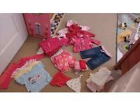 Girls clothes bundle age 3-6 months