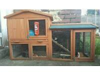 2 tier hutch/cage for rabbit or guinea pigs