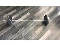 Bar with 24kg weights (2x 10kg / 2x 2kg)