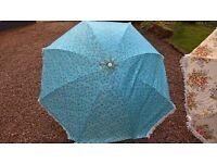 vintage blue parasol