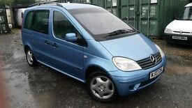 THIS MERCEDES VANEO HAS 7 SEATS..GREAT LUGGAGE SPACE ..03 REG WITH ONLY 64K MILES..ALLOYS..BLUE MT.