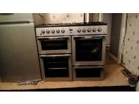 Dual fuel range cooker