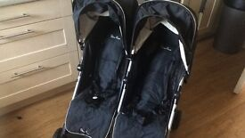 Silver cross duo double pram with cosy toes and rain cover immaculate!