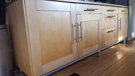 Used Ikea kitchen units in good condition from a smoke and pet free home