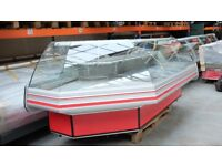 L Shape Serve Over Counter Display Fridge Meat Chiller 365cm (12 feet) ID:T2618