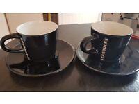 Starbucks Espresso Cups (Black) x2