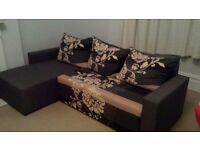 Left cornered sofa bed. Collection only