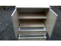 Two drawer bedroom storage unit