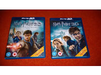 3D blu-ray Harry Potter & the Deathly Hallows 1 & 2