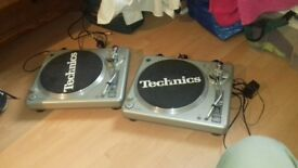 Pair of ministry of sound turntables with numark needles