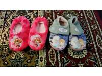 Girls Slippers x 2 (Size 6-7)