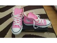 Pink All star converse trainer's
