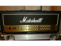 Marshall JVM 100w 4 channel head with Swan flight case & foot controller