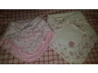 Baby girl's blankets great condition.