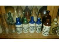 Antique stoneware and glass bottles wanted