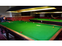2 x full size tradition snooker tables from social club