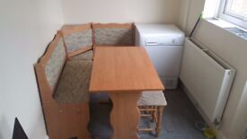 Kitchen table with corner bench