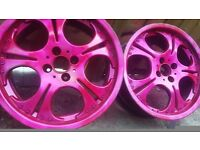 17 inch PINK ALLOYS 4 STUD 4×100