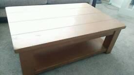 Solid oak cpffee table