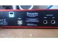 focusrite 2nd gen audio interface