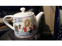 Brand new Born to Shop teapot