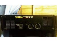 yamaha power amd and pair 15 speakers dj decks hifi bass bins loud party club rig