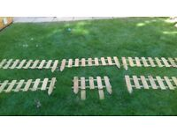 Timber picket fencing panels