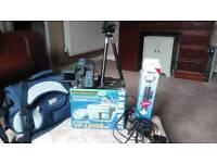 Samsung VP-L 600B PAL8mm camcorder, tripod and Antler bag