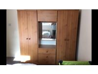 2 Double Door Wardrobes and 1 Dressing Table with drawers
