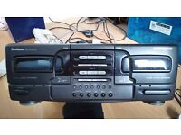 Goodmans Delta 801W Dual Cassette player separate.