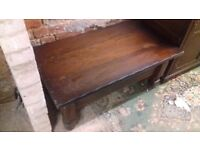 Antique coffee table solid wood