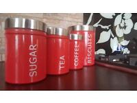 Red Kitchen Container Set