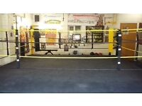 16FT X 16FT BOXING RING 6 MONTHS OLD MINT CONDITION