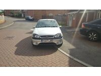 **** SOLD ****Ford Fiesta Zetec S 2001 Silver MOT till april
