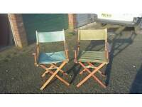 Director chairs x 2