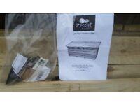Large Wooden garden storage box brand new