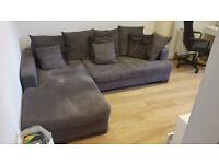 Corner Sofa bed - chocolate colour