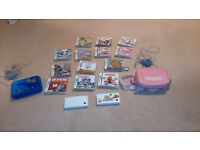 DS console, charger, 2 cases and 10 games