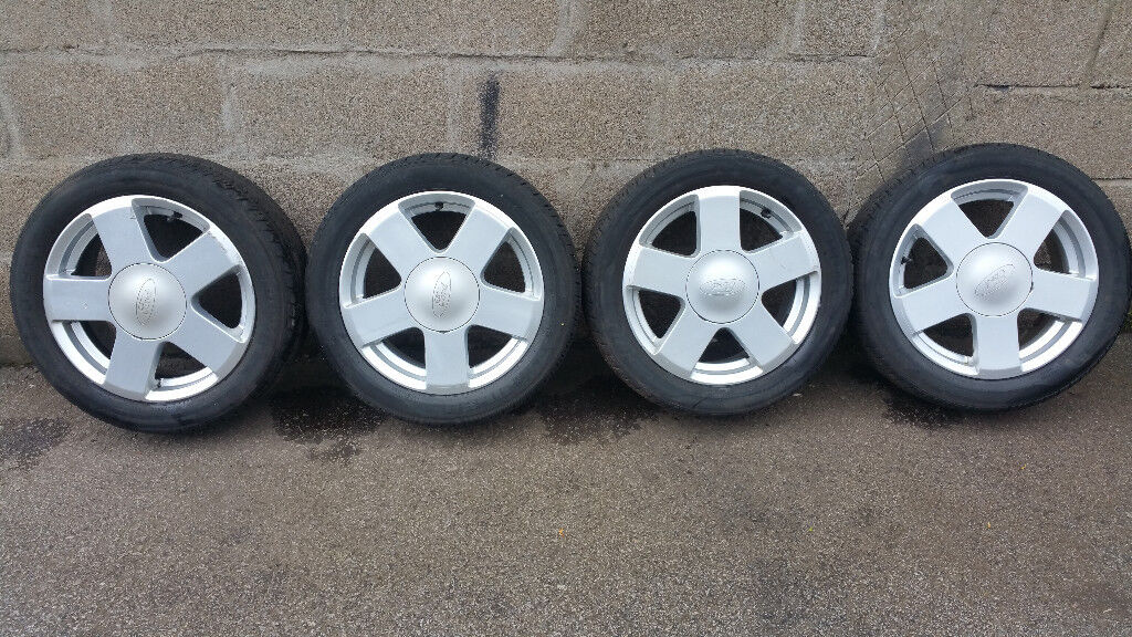 Ford Genuine 15 alloy wheels + 4 x tyres 195 50 15