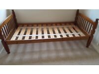 Pine single bed four foot well made CREWKERNE must go this weekend